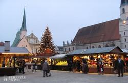 Altötting: a Kápolna tér karácsonyi vásár idején