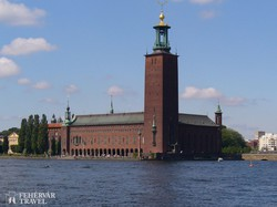 a városháza épülete Stockholmban