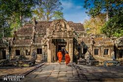 Angkor romjainak egy színes részlete