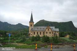 a Lofoten-katedrális Kabelvågban