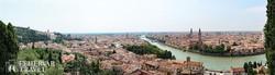 Verona látképe madártávlatból