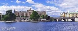 a parlament épülete Stockholmban