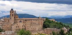Urbino – a Palazzo Ducale madártávlatból