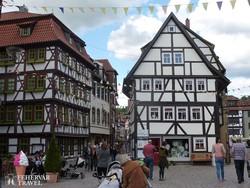 Schmalkalden ősi favázas házai