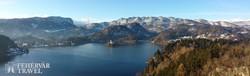 pillantás a Bledi-tóra