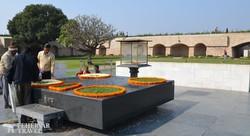 Raj Ghat – Ghandi emlékműve Delhiben