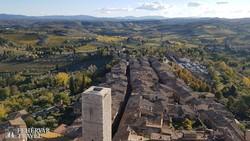 San Gimignano látképe a magasból