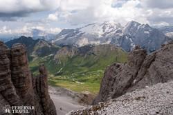 pillanatkép a Nagy-Dolomitok országúton