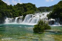 a Skradinski Buk vízesésrendszere a Krka Nemzeti Parkban