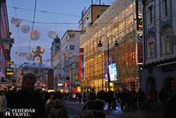 Linz belvárosa adventi hangulatban