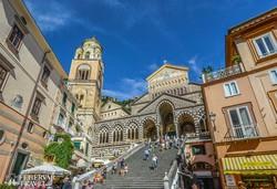 az Amalfi dóm és monumentális lépcsősora