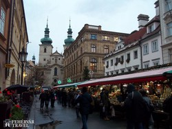 Prága adventi hangulatú óvárosa – részlet