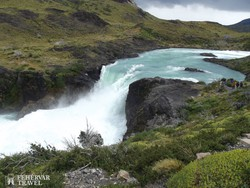 vízesés a Torres del Paine Nemzeti Parkban