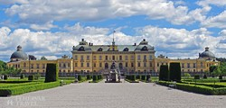 a Drottningholm-kastély a park felől