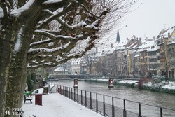 Strasbourg belvárosa téli köntösben