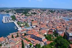 Rovinj óvárosa felülnézetből