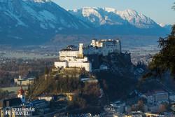 Salzburg fellegvára télen