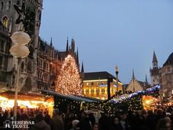 München: karácsonyi vásár a Mária téren