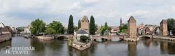 Strasbourg látképe a várost átszelő csatornákkal