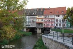 Erfurt: a Krämerbrücke (a Szatócsok hídja)