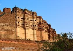 a Jodhpur fölé magasodó Mehrangarh várkastély