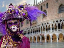 karneváli maskarás Velencében