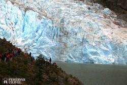 a Serrano-gleccser egy részlete