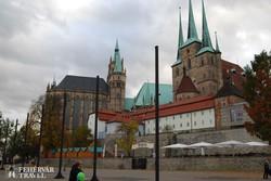 Erfurt: a dóm és a Szt. Severin-templom