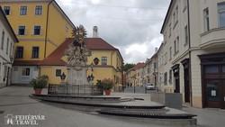 a Gutenberg tér Győrben