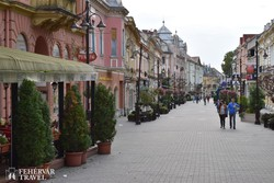 séta Kaposvár belvárosában