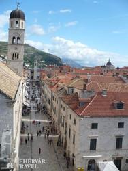 Dubrovnik: az óváros főutcája