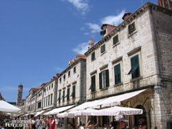 Dubrovnik: az óváros hangulatos főutcája – részlet