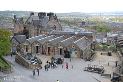 panoráma a városra Edinburgh várából