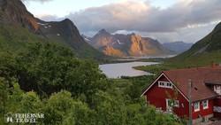 jellegzetes táj Flakstadøy szigetén