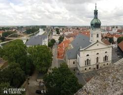a győri székesegyház a Püspökvár tornyából