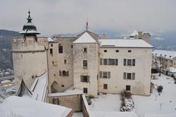 Salzburg fellegvárának egy részlete