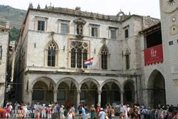 a Sponza palota Dubrovnikban