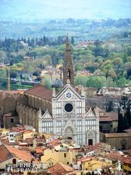 a Santa Croce-templom madártávlatból