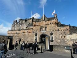 a skót királyi vár Edinburgh-ban – részlet
