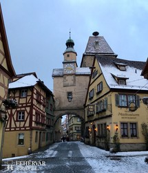 Rothenburg téli hangulatban