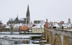Regensburg óvárosa a dómmal