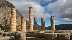 Apollón templomának romjai Delphoiban