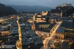 Salzburg esti fényei