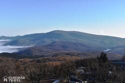 panoráma a Kékesre hazánk 3. legmagasabb csúcsáról, a Galya-tetőről