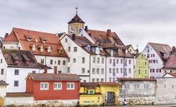 pillantás Regensburg óvárosára