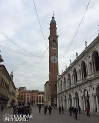 Vicenza – a kép jobb oldalán Palladio remekműve, a bazilika