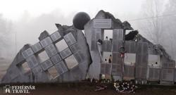 a fogvatartottak névsorát tartalmazó emlékmű a recski kényszermunkatábor területén
