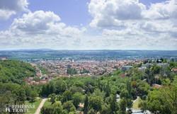 panoráma Pécsre a Tettyéről