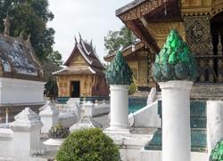 a Wat Xieng Thong pompás díszítései Luang Prabangban