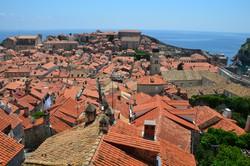 pillantás Dubrovnikra a várfalról